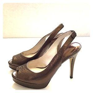 Michael Kors Bronze Peep Toe Heels